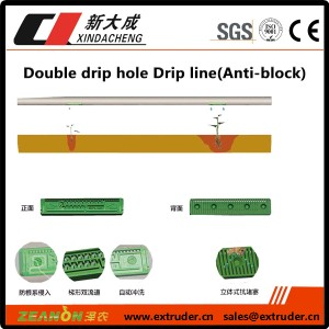 Double pumatak-patak hole Drip linya (Anti-block)