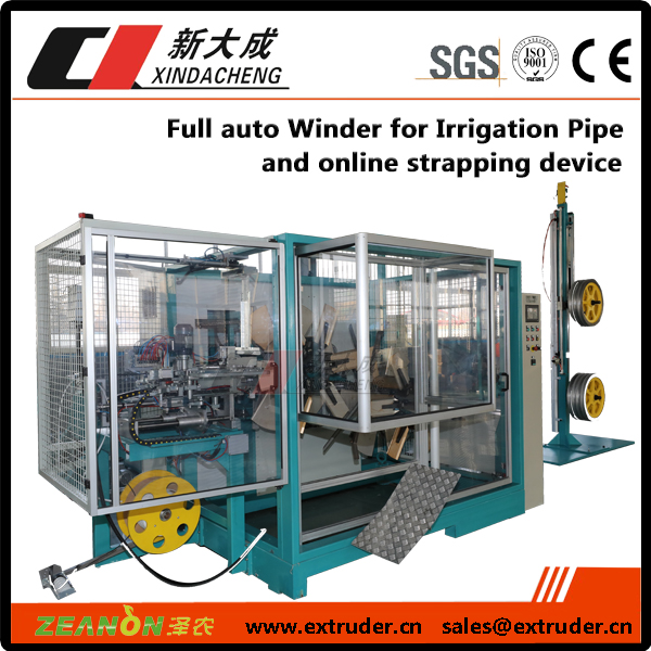 Full auto Winder for Irrigation Pipe & online strapping device Featured Image