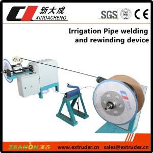 Irrigation Pipe welding and rewinding device