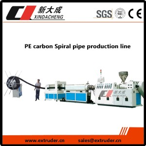 PE carbon Spiral pipe production line