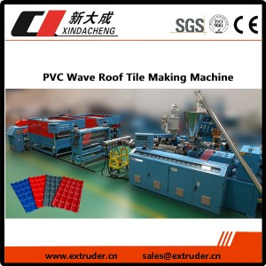 PVC Wave Jumta Flīžu Making Machine