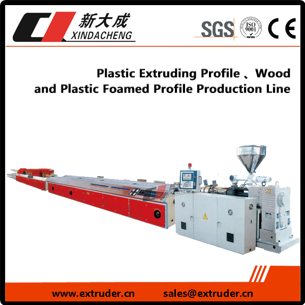 Plastic Profile Extruding, Image Wood kunye zeplastiki Foamed Profile Production Line Ifakwe
