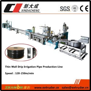 Thin-wall flat drip pipe Extrusion line