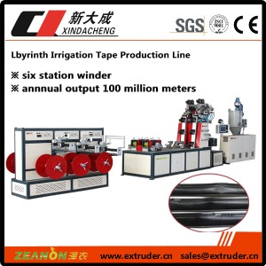 Labyrinth type drip irrigation pipe production line (extrusion 4 tape)