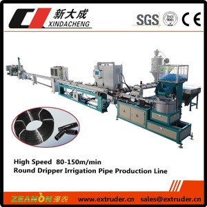 High speed pag-ikot dripper patubig pipe produksyon linya